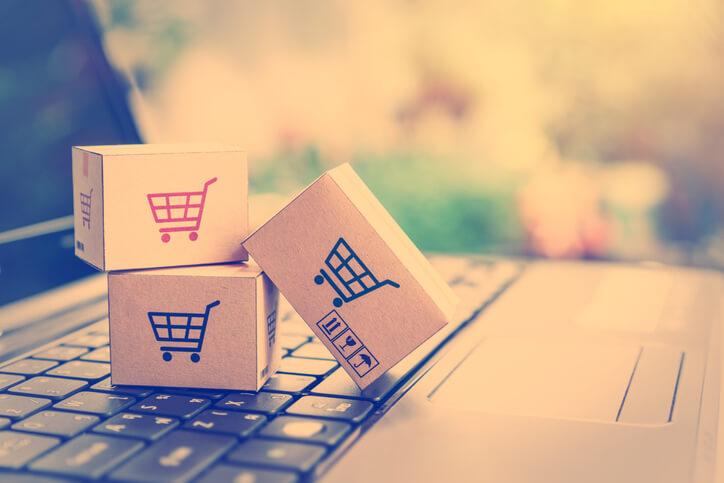 Imagem que remete à compras online