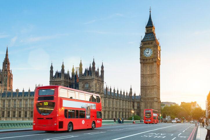 Imagem mostra pontos turísticos de Londres